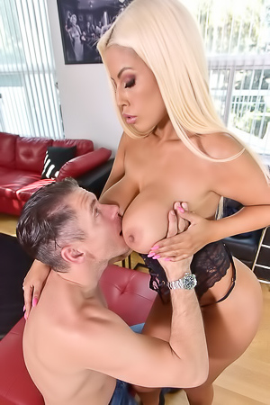 Horny Blonde Craves Cum on Tits