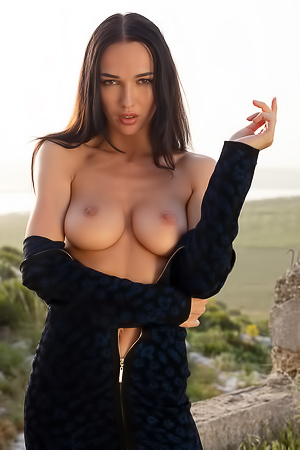 Skinny And Busty Model Anastasya Stripping