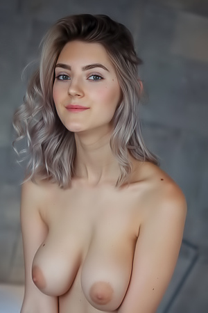 Gorgeous Blue-eyed Blonde Eva Elfie