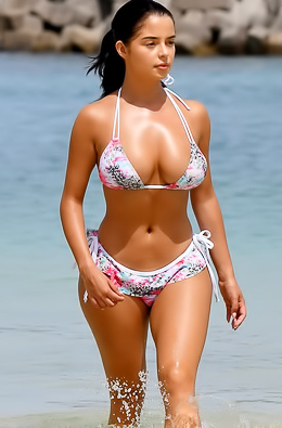 Demi Rose In Floral Bikini