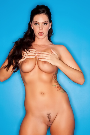 Alison Tyler Nude Against A Blue Wall