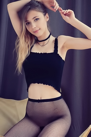Alluring Mila Azul shows off